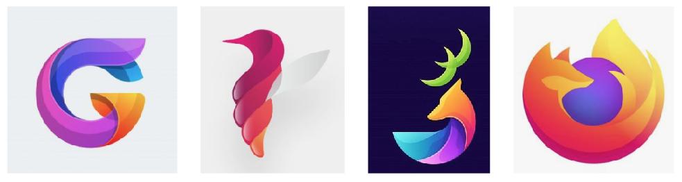 Logo organique et coloré